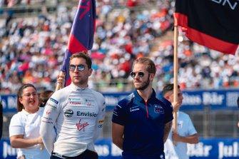 Robin Frijns, Virgin Racing, Sam Bird, Virgin Racing, pendant la parade des pilotes
