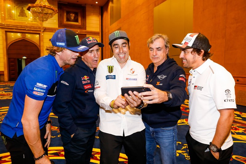 Adrien Van Beveren, Yamalube Yamaha Official Rally Team, Stephane Peterhansel, JCW X-Raid Team, Nani Roma, Borgward Rally Team, Carlos Sainz, JCW X-Raid Team, Fernando Alonso, Toyota Gazoo Racing