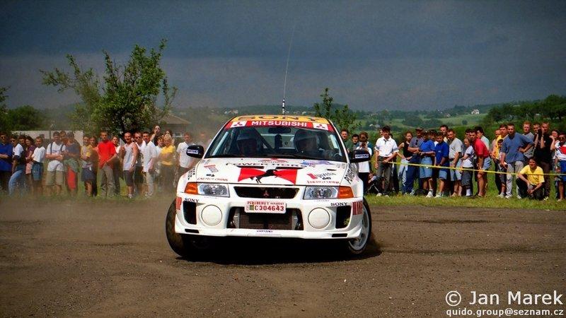 Leszek Kuzaj, Jakub Mroczkowski, Mitsubishi Lancer Evo V, Rajd Polski 1998