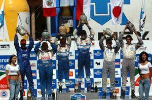 Ganadores: Marcos Ligato, Mitsubishi, Ramon Ferreyros, Mitsubishi, Janusz Kulig, Mitsubishi