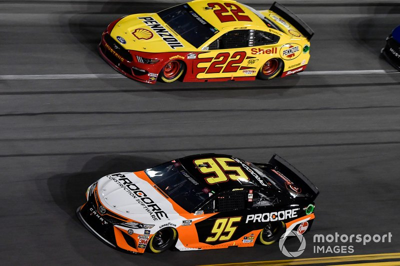 Christopher Bell, Leavine Family Racing, Toyota Camry Procore, Joey Logano, Team Penske, Ford Mustang Shell Pennzoil