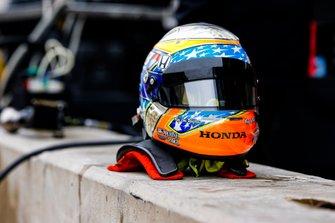 Santino Ferrucci, Dale Coyne Racing con Vasser Sullivan, casco