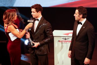 Lando Norris, McLaren, wins the British Competition Driver of the Year award