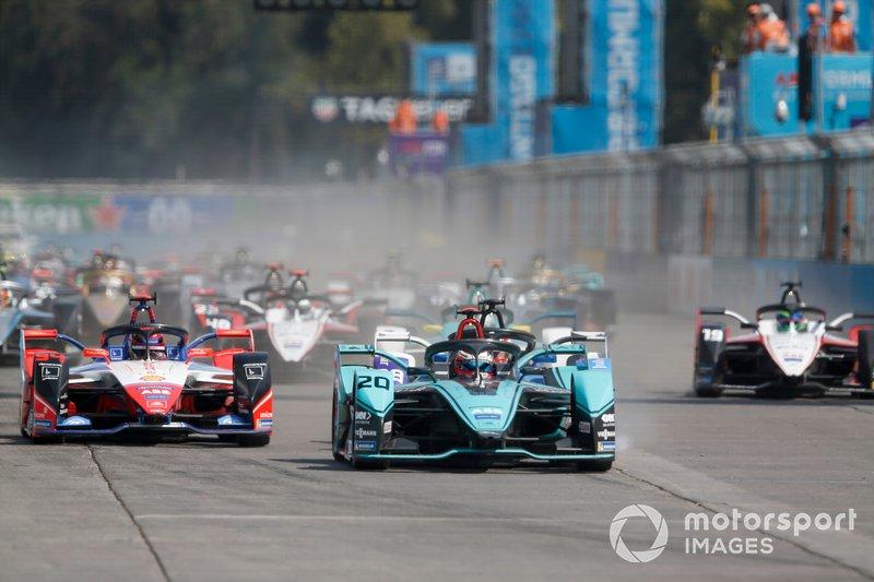 Mitch Evans, Jaguar Racing, Jaguar I-Type 4 Pascal Wehrlein, Mahindra Racing, M6Electro, Maximilian Günther, BMW I Andretti Motorsports, BMW iFE.20