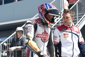 Sam Lowes, Gresini Racing, dopo l'incidente