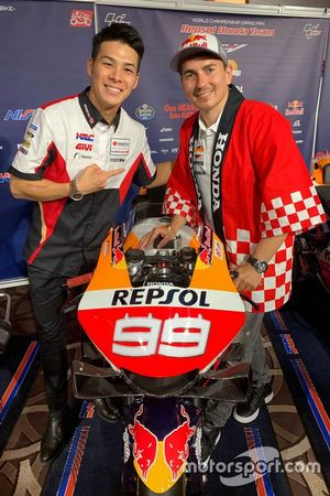 Takaaki Nakagami, Team LCR Hondawith Jorge Lorenzo, Repsol Honda Team