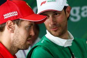 Sebastian Vettel, Ferrari and Bruno Senna