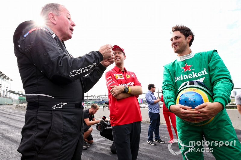 Martin Brundle, Sebastian Vettel e Bruno Senna