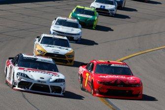 Harrison Burton, Joe Gibbs Racing, Toyota Supra Dex Imaging Justin Allgaier, JR Motorsports, Chevrolet Camaro BRANDT