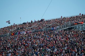 Fans fill the grandstands on race day