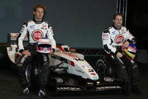 Jenson Button, Honda Racing and Jacques Villeneuve, Honda Racing