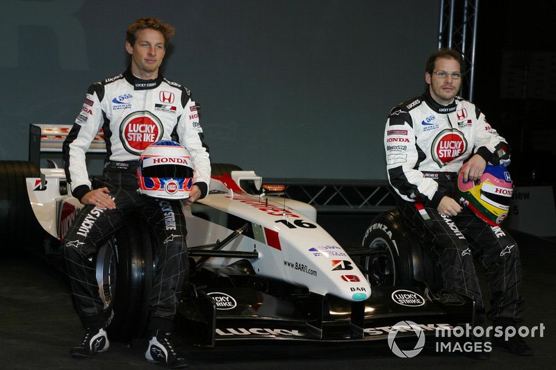 Jenson Button et Jacques Villeneuve chez BAR