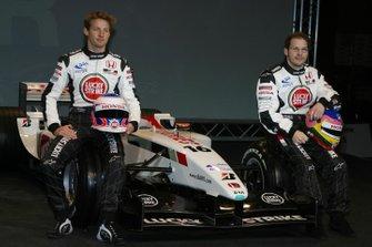 Jenson Button, Honda Racing et Jacques Villeneuve, Honda Racing