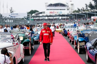 Charles Leclerc, Ferrari on the drivers parade