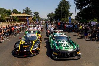 #1 Earl Bamber Motorsport Porsche GT3 R: Earl Bamber, Laurens Vanthoor, Craig Lowndes, #999 Mercedes-AMG Team GruppeM Racing Mercedes AMG GT3: Felipe Fraga, Maximilian Buhk, Raffaele Marciello
