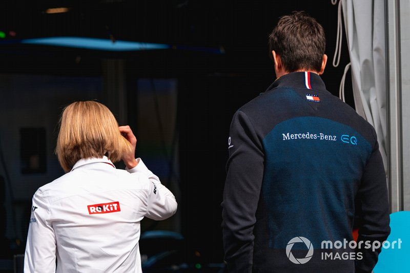 Susie Wolff, Team Principal, Venturi with husband Toto Wolff, Team Principal of Mercedes AMG F1 Team