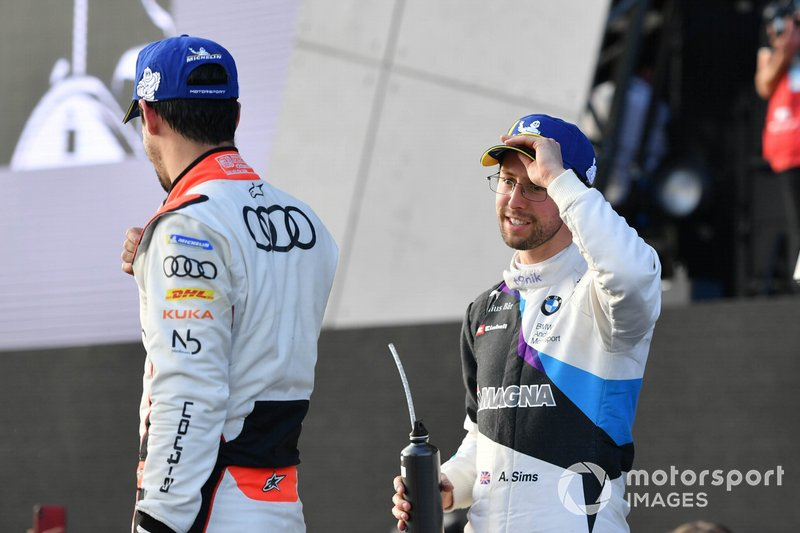 Alexander Sims, BMW I Andretti Motorsports, Lucas Di Grassi, Audi Sport ABT Schaeffler on the podium