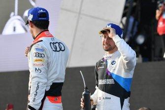 Alexander Sims, BMW I Andretti Motorsports, Lucas Di Grassi, Audi Sport ABT Schaeffler, sul podio