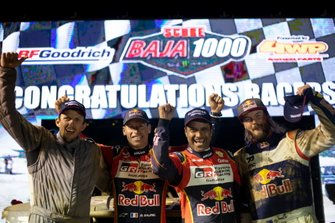 Dustin Helstrom, Mathieu Baumel, Nasser Al-Attiyah and Toby Price