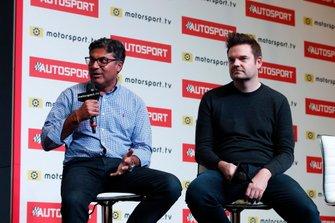 Manish Pandey is interviewed on the Autosport stage