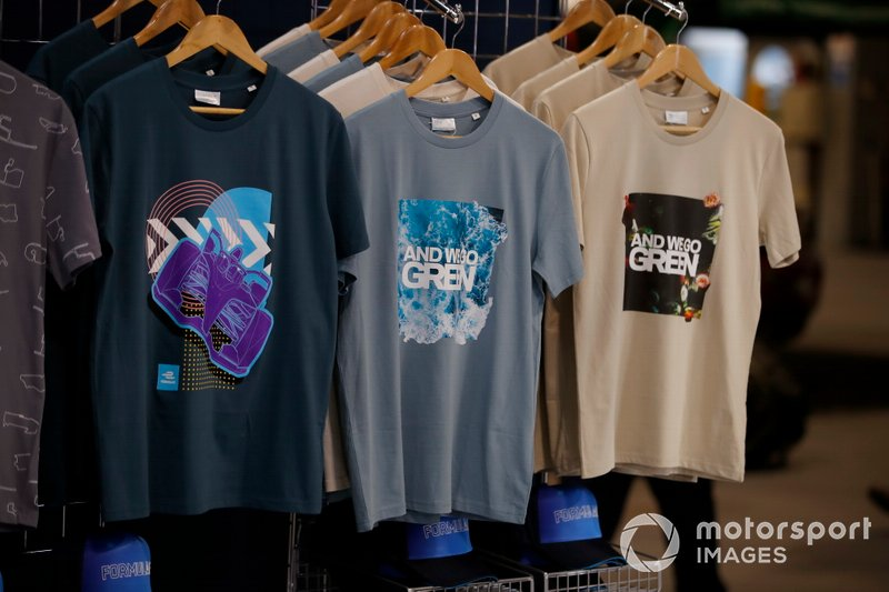 Formula E merchandise on the stand