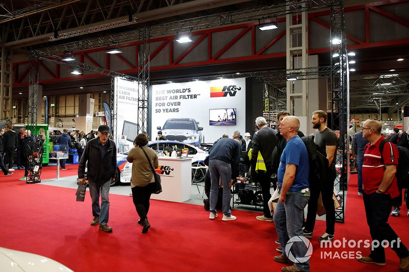 A general view of fans at the Autosport show