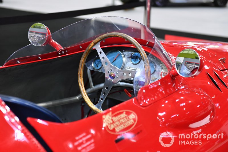 The steering wheel in the Maserati 250F