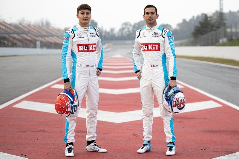 Williams reparte entre sus pilotos la primera jornada. George Russell rodará el miércoles POR LA MAÑANA y Nicholas Latifi POR LA TARDE