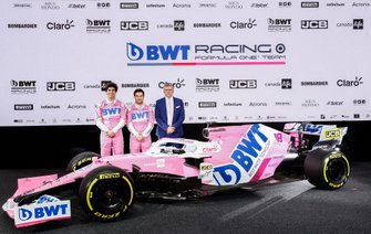 Sergio Perez, Racing Point, Lance Stroll, Racing Point and Otmar Szafnauer, Team Principal and CEO, Racing Point