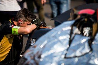 A DS Techeetah team member on the grid