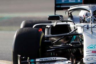 Mercedes AMG F1 W11 side pods