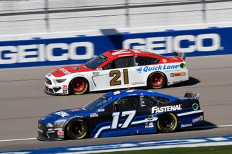 Chris Buescher, Roush Fenway Racing, Ford Mustang Fastenal, Matt DiBenedetto, Wood Brothers Racing, Ford Mustang Motorcraft/Quick Lane