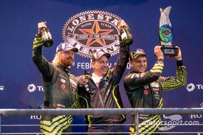 #97 Aston Martin Racing - Aston Martin Vantage Amr: Alexander Lynn, Maxime Martin Podium