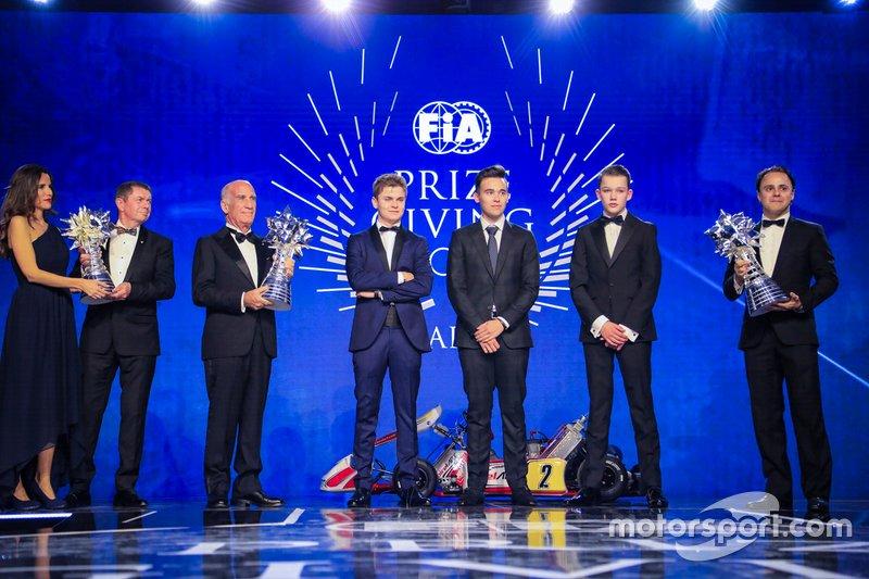 FIA Karting Campeones: Lorenzo Travisanutto, Thomas Ten Brinke, Marijn Kremers