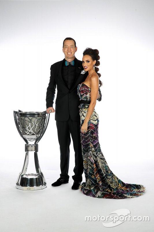 Kyle Busch y su esposa Samantha