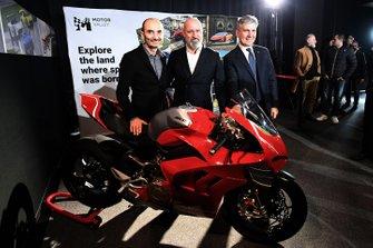 Claudio Domenicali, Amministratore Delegato Ducati e Presidente Motor Valley, Stefano Bonaccini, Presidente della Regione Emilia-Romagna, Andrea Pontremoli, Presidente del Muner