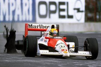 Ayrton Senna, McLaren, al GP del Messico del 1990