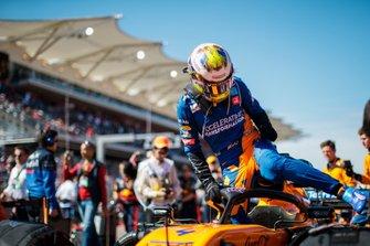 Lando Norris, McLaren, sulla griglia