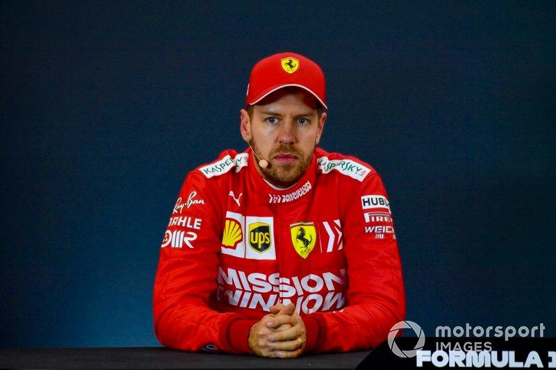 Обладатель второго места в квалификации Себастьян Феттель, Ferrari