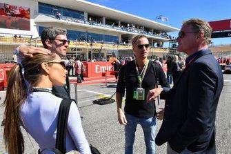 David Coulthard, avec le musicien Brian Tyler