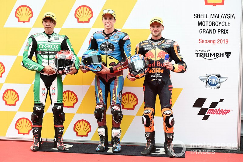 Tetsuta Nagashima, SAG Racing Team, Alex Marquez, Marc VDS Racing, Brad Binder, KTM Ajo