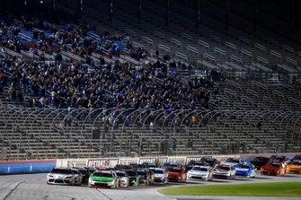 Harrison Burton, Joe Gibbs Racing, Toyota Supra Dex Imaging and Tyler Reddick, Richard Childress Racing, Chevrolet Camaro Alsco
