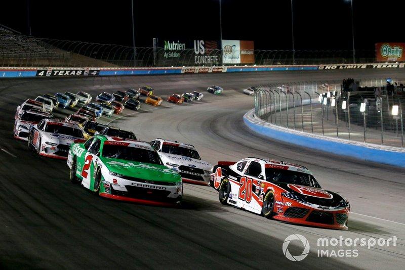 Christopher Bell, Joe Gibbs Racing, Toyota Supra Rheem, Tyler Reddick, Richard Childress Racing, Chevrolet Camaro Alsco