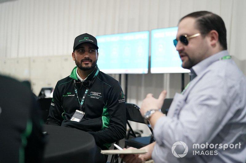 Fahad Algosaibi, Saudi Racing being interviewed by the media