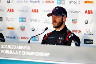 Sam Bird, Virgin Racing, in de persconferentie