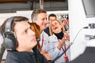 Alejandro Agag, voorzitter Formula E, Susie Wolff, Teambaas, Venturi