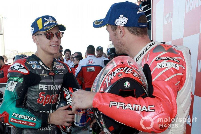 Poleman Fabio Quartararo, Petronas Yamaha SRT, 3º Jack Miller, Pramac Racing