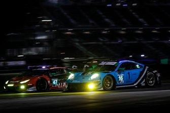 #47 Precision Performance Motorsports Lamborghini Huracan GT3, GTD: Brandon Gdovic, Eric Lux, #16 Wright Motorsports Porsche 911 GT3 R, GTD: Ryan Hardwick, Patrick Long, Klaus Bachler, Anthony Imperato