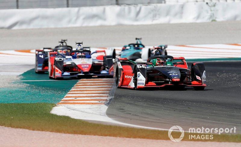 Daniel Abt, Audi Sport ABT Schaeffler, Audi e-tron FE06 Jérôme d'Ambrosio, Mahindra Racing, M6Electro, Robin Frijns, Envision Virgin Racing, Audi e-tron FE06