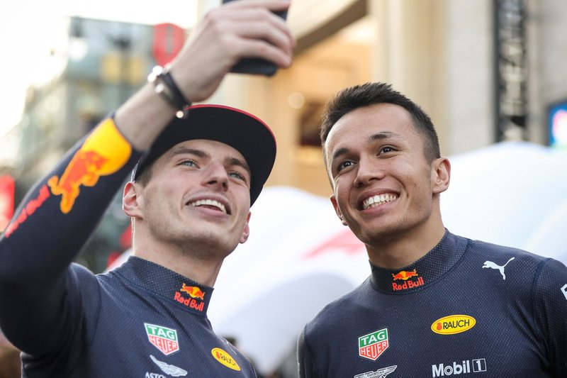Max Verstappen and Alexander Albon, Red Bull Racing